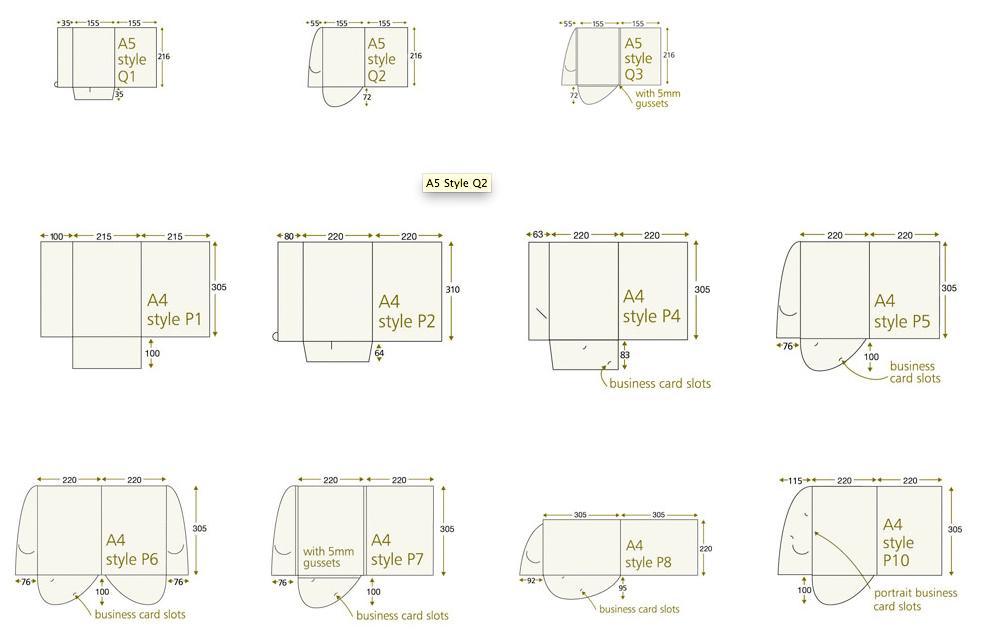 A4 A5 Interlocking Folder Templates King S Lynn Printers