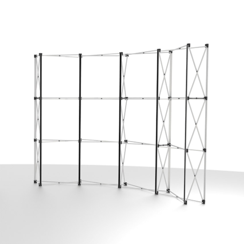 Exhibition Stand Frame : Curved pop up exhibition stand king s lynn printers